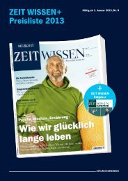 ZEIT WISSEN+ Preisliste 2013 + - iq media marketing