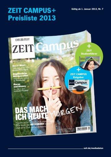 ZEIT CAMPUS+ Preisliste 2013 + + - Die Zeit
