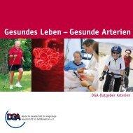 Gesundes Leben – Gesunde Arterien - der Deutschen Gesellschaft ...