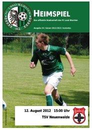 1. Heimspiel TSV Neuenwalde - FC Land Wursten