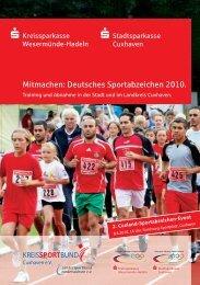Deutsches Sportabzeichen 2010. - Kreissportbund Cuxhaven