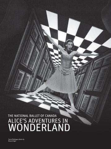 alice's adventures in wonderland (2012) program - Music Center