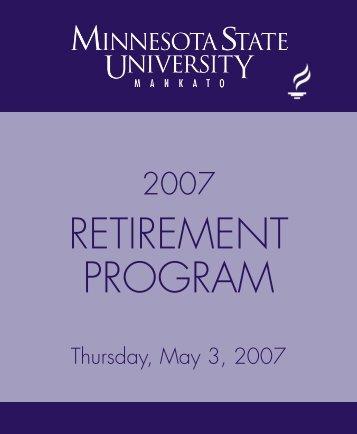 RETIREMENT PROGRAM - Minnesota State University, Mankato