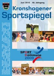 Juni 2010 46. Jahrgang - TSV Kronshagen
