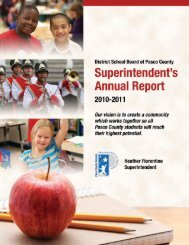 Annual Report for 2010-2011 - Pasco County Schools