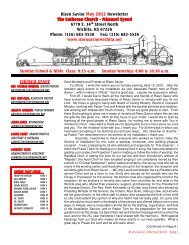 May 2012 Newsletter - Risen Savior Lutheran Church
