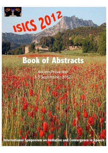 International Symposium on Imitation and Convergence in Speech ...