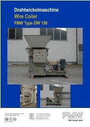 Drahtwickelmaschine Wire Coiler - FMW Industrieanlagenbau Gmbh