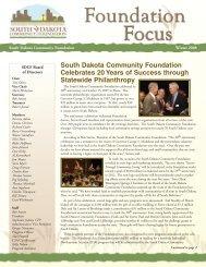 South Dakota Community Foundation Celebrates 20 Years of ...