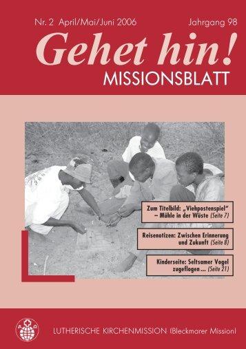 W - Lutherische Kirchenmission Bleckmar