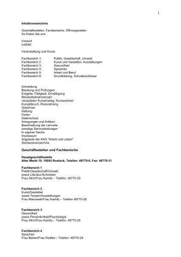 Fachbereich VI Grundbildungskurse - Deutsches Institut für ...