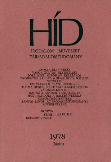 HÍD - Vajdasági Magyar Digitális Adattár