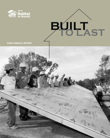 2008 ANNUAL REPORT - Atlanta Habitat for Humanity