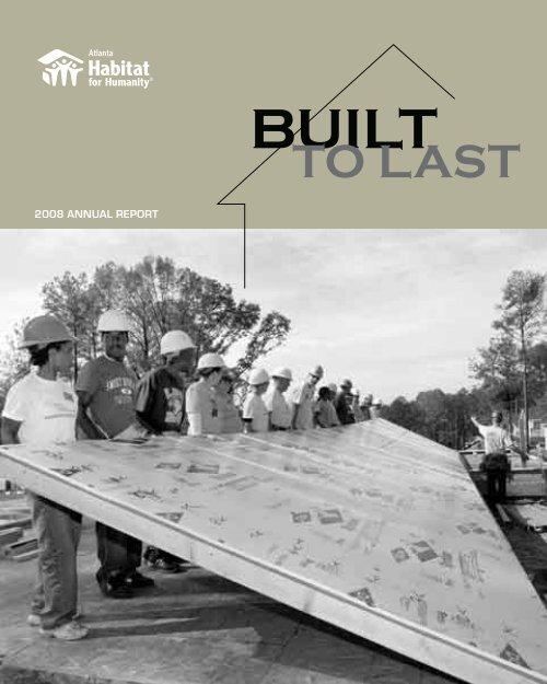 2008 ANNUAL REPORT - Atlanta Habitat for Humanity