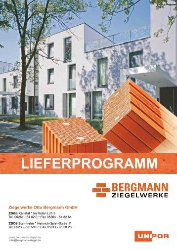 preisliste 2012 - Ziegelwerk Otto Bergmann GmbH