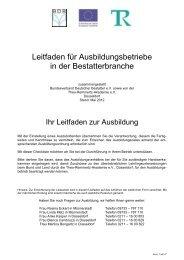 Leitfaden für Ausbildungsbetriebe - Bundesverband Deutscher ...