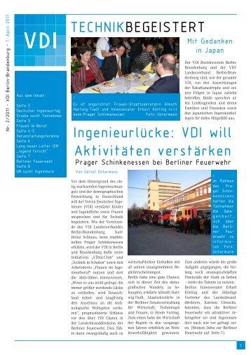 TECHNIKBEGEISTERT Ingenieurlücke: VDI will Aktivitäten verstärken
