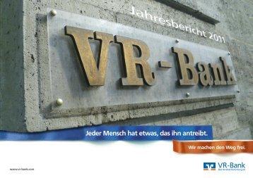 Jahresbericht 2011 - VR-Bank Bad Hersfeld-Rotenburg eG