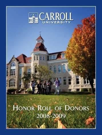 Oct. pioneer/AR 2004 - Carroll University