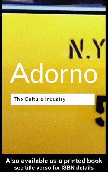 3 culture industry reconsidered - ImagoMundi