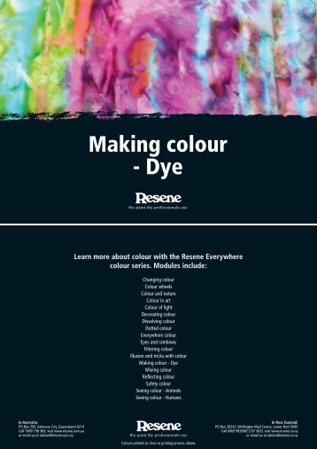 Making colour - Dye - Resene