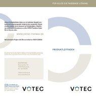 VOTEC Produktleitfaden (Entsorgung) - Raab Karcher