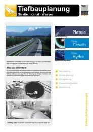 Tiefbau - Software-Lösungen für Straße, Kanal, Wasserleitungsnetze