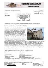 Infobrief 1/2007 - Tierhilfe Schweinfurt Stadt und Land eV