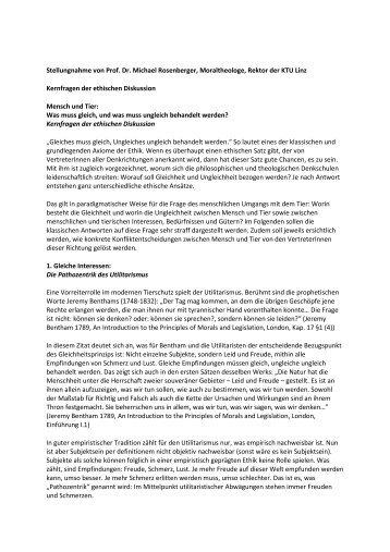 Stellungnahme - Forum Tierversuche in der Forschung