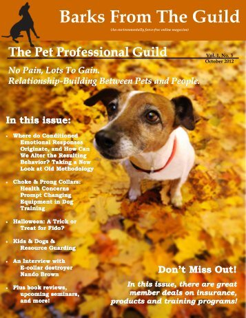 Barks From The Guild - The Pet Professional Guild