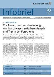 In: Infobrief, Dezember 2011 - Deutscher Ethikrat