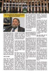 News aus Europa: 6. Juli 2012 - Dr. Thomas Ulmer MdEP