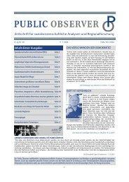 Public Observer Ausgabe Jänner 2008 - Public Opinion