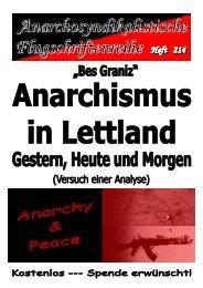 Anarchismus in Lettland Gestern, Heute und ... - Syndikalismus.tk