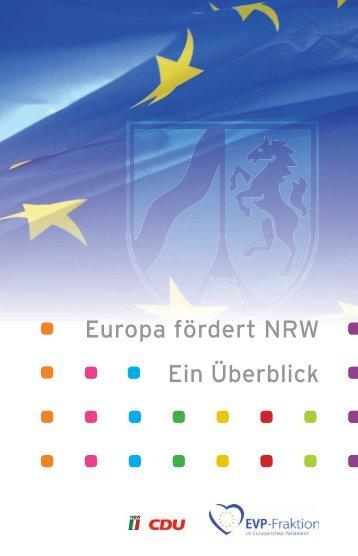 Europa fördert NRW - ein Überblick - Karl-Heinz-Florenz