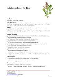Heilpflanzenkunde für Tiere - Vet-congress