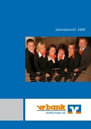 Jahresbericht 2009 - vr bank Südthüringen eG