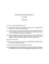Macroeconomics Qualifier Examination July 2008