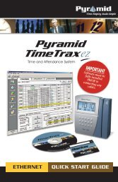 QUICK START GUIDE Pyramid TimeTrax EZ ETHERNET MODEL