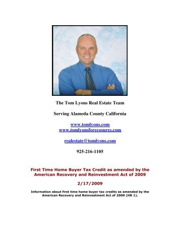 The Tom Lyons Real Estate Team Serving Alameda County ...