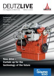 New drive – Curtain up for the technology of the future - DEUTZ Home