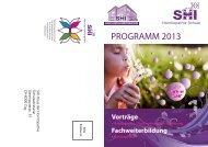 Weiterbildungs-programm - SHI Haus der Homöopathie
