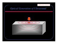 Optical Generation of Ultrasound - Northwestern University
