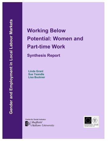 Working Below Potential: Women and Part-time Work