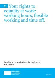 Your rights to equality at work: working hours, flexible working and ...