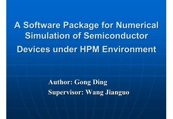 A Software Package for Numerical Simulation of Semiconductor - GSS