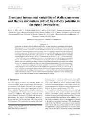 Trend and interannual variability of Walker, monsoon and ... - Tellus A