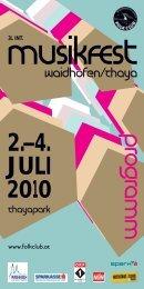 2.–4. JULI 2010 - Folkclub