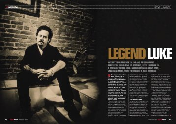 with utterly immense talent and an unrivalled ... - SteveLukather.net