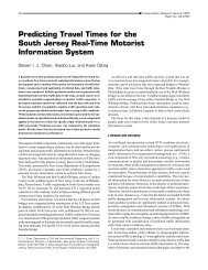 Predicting Travel Times for the South Jersey Real-Time Motorist ...